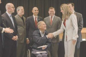 Governor Abbott Receives Hurricane Recovery Update, Presents Funds For Debris Removal