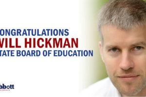 Governor Abbott Congratulates Will Hickman On Election To State Board Of Education